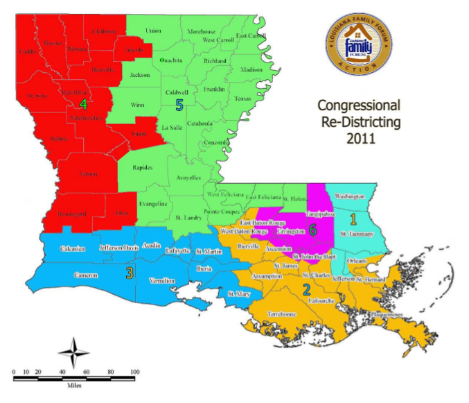 Louisiana Family Forum Hopes to Carve Up Congressional Districts