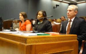 State Representative Katrina Jackson and Reverend Gene Mills, President of the Louisiana Family Forum