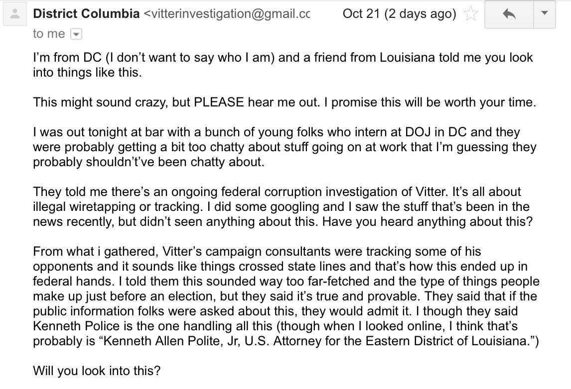 Vitter Campaign\'s Private Investigator Arrested In Jefferson Parish ...